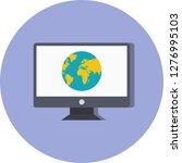 vector webpage icon  | Shutterstock .eps vector #1276995103