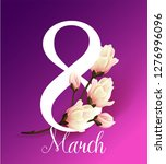 8 march women's day greeting...   Shutterstock .eps vector #1276996096