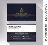 business model name card luxury ... | Shutterstock .eps vector #1277004439