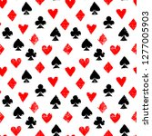 playing cards different suits   ... | Shutterstock .eps vector #1277005903