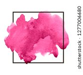 pink colorful watercolor hand... | Shutterstock .eps vector #1277006680