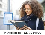 pretty afro teenage girl... | Shutterstock . vector #1277014000