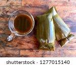 black coffee with thai dessert... | Shutterstock . vector #1277015140