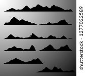 vector silhouette of mountains | Shutterstock .eps vector #1277022589