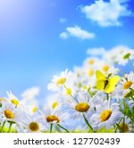 spring background with  on a... | Shutterstock . vector #127702439