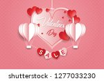 valentine's day concept  heart... | Shutterstock .eps vector #1277033230