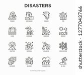 disasters thin line icons set ... | Shutterstock .eps vector #1277043766