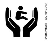 child custody glyph icon.... | Shutterstock .eps vector #1277049640
