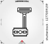 barber icon vector  for web and ... | Shutterstock .eps vector #1277059159