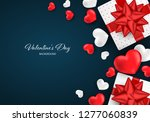 valentine's day background with ... | Shutterstock .eps vector #1277060839