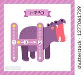 letter h uppercase cute... | Shutterstock .eps vector #1277061739