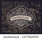 vector retro grunge logo. icon... | Shutterstock .eps vector #1277065543