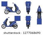 delivery motorcycle vector... | Shutterstock .eps vector #1277068690