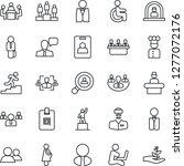 thin line icon set   reception... | Shutterstock .eps vector #1277072176