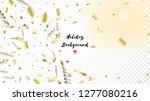 modern christmas tinsel... | Shutterstock .eps vector #1277080216