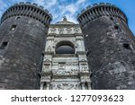 the new castle in naples  italy. | Shutterstock . vector #1277093623