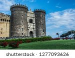 the new castle in naples  italy. | Shutterstock . vector #1277093626