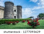 the new castle in naples  italy. | Shutterstock . vector #1277093629