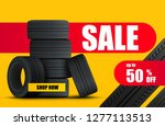 tire car sale banner. car... | Shutterstock .eps vector #1277113513