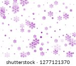crystal snowflake and circle... | Shutterstock .eps vector #1277121370