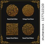 round calligraphic royal gold... | Shutterstock .eps vector #1277122120