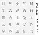 chemistry outline icons set.... | Shutterstock .eps vector #1277122309