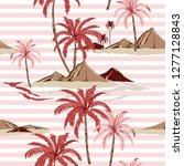 summer sweet seamless tropical... | Shutterstock .eps vector #1277128843