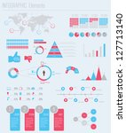 set elements of infographics | Shutterstock .eps vector #127713140