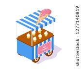 modern kiosk  street 3d... | Shutterstock .eps vector #1277140819