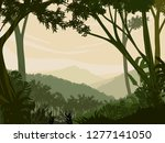 mountainous jungle with trees... | Shutterstock .eps vector #1277141050