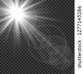 sunlight isolated. sun rays... | Shutterstock .eps vector #1277145286