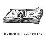 Vintage Money Stack Concept...
