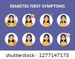diabetes early signs and... | Shutterstock .eps vector #1277147173