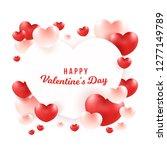 happy valentine's day word on... | Shutterstock .eps vector #1277149789