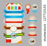 retro ribbons and labels.  ... | Shutterstock . vector #127715153