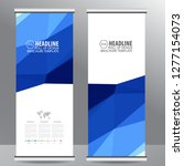 roll up business brochure flyer ... | Shutterstock .eps vector #1277154073
