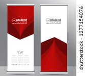 roll up business brochure flyer ... | Shutterstock .eps vector #1277154076