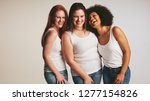 diverse group of women laughing ... | Shutterstock . vector #1277154826