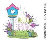 flower plants leaves in the... | Shutterstock .eps vector #1277155513