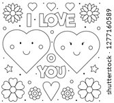 I Love You. Coloring Page....