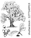 tree silhouettes on white... | Shutterstock .eps vector #1277160913