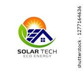 sun solar energy logo design...   Shutterstock .eps vector #1277164636