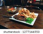Steak Chips Onion Rings