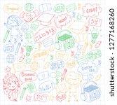 language school for adult  kids.... | Shutterstock .eps vector #1277168260