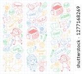 language school for adult  kids.... | Shutterstock .eps vector #1277168269