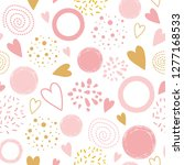 Cute Seamless Pink Pattern With ...