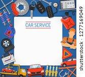 car service banner and frame....   Shutterstock .eps vector #1277169049