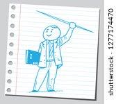 school teacher with spear | Shutterstock .eps vector #1277174470