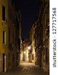 Venetian Alley In The Darkness
