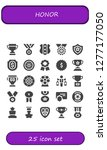 honor icon set. 25 filled... | Shutterstock .eps vector #1277177050